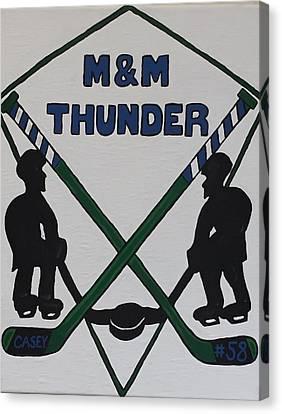 Youth Hockey Canvas Print - Thunder Hockey by Jonathon Hansen