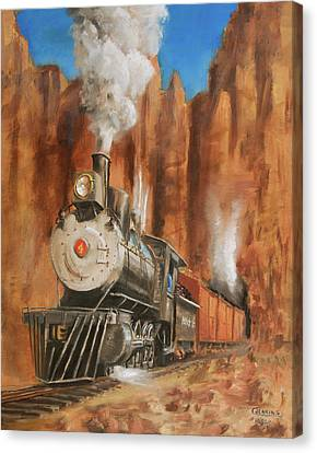 Thunder In Cathedral Canyon Canvas Print by Christopher Jenkins