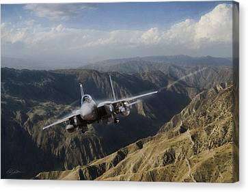 Thunder Mountain Eagle Canvas Print