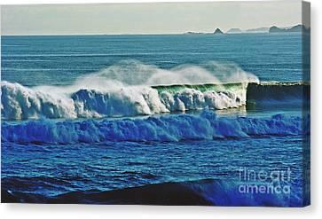 Thunder Of The Waves Canvas Print by Blair Stuart