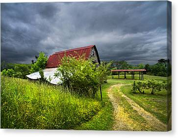 Thunder Road Canvas Print by Debra and Dave Vanderlaan