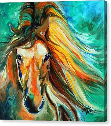 Abstract Equine Canvas Print - Thunder Run Abstract by Marcia Baldwin