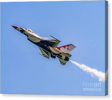 Canvas Print featuring the photograph Thunderbird #5 by Nick Zelinsky
