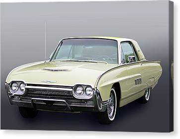 Canvas Print featuring the photograph Thunderbird In 63 by Bill Dutting