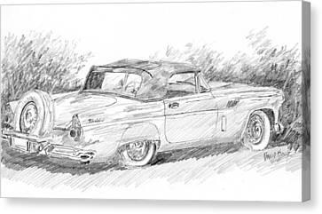 Thunderbird Sketch Canvas Print