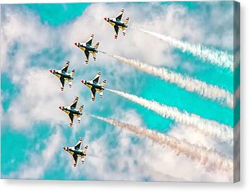 Canvas Print - Thunderbirds - All 6 by Bill Gallagher