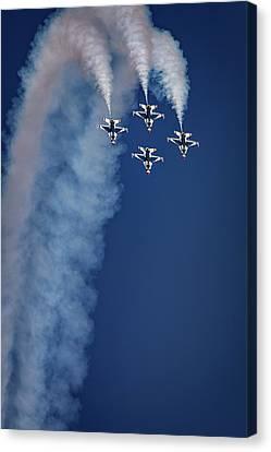 Canvas Print featuring the photograph Thunderbirds Diamond Formation by Rick Berk