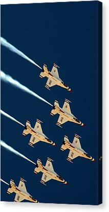 Canvas Print featuring the photograph Thunderbirds  by Karen Musick