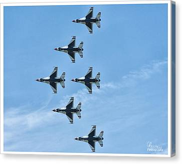 Canvas Print featuring the photograph Thunderbirds by Linda Constant