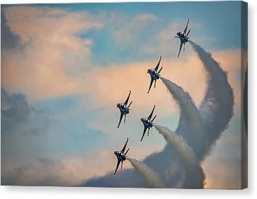 Canvas Print featuring the photograph Thunderbirds by Rick Berk
