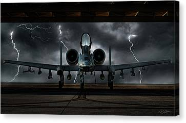 Thunderbolt And Lightning Canvas Print by Peter Chilelli