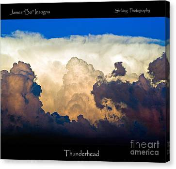 Thunderhead Cloud Color Poster Print Canvas Print by James BO  Insogna