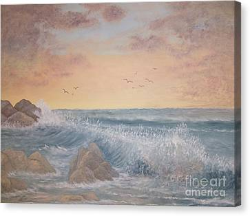 Thundering Sea Canvas Print