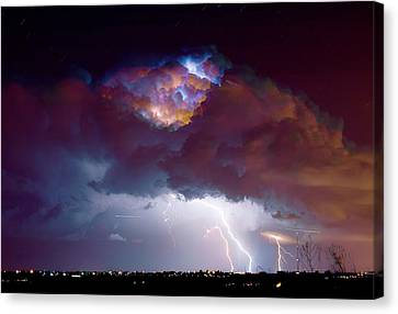 James Insogna Canvas Print - Lightning Thunderstorm Over Dacono by James BO  Insogna