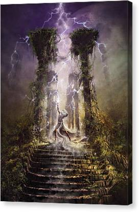 Thunderstorm Wizard Canvas Print