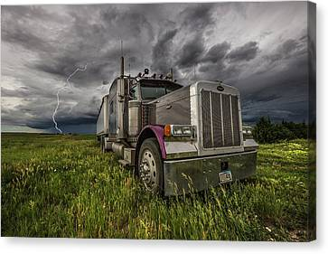 Canvas Print featuring the photograph Thunderstruck by Aaron J Groen