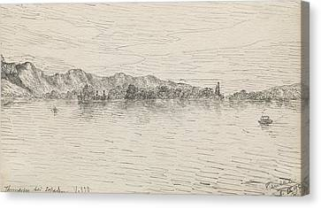 Thunersee Near Schadau Canvas Print by Paul Klee