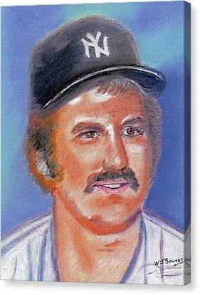 Thurman Munson Canvas Print by William Bowers