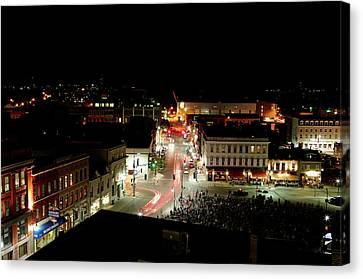 Thursday Night, Movies In The Square Canvas Print