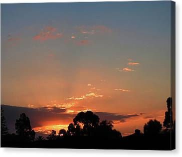 Canvas Print featuring the photograph Thursday Sunset by Mark Blauhoefer