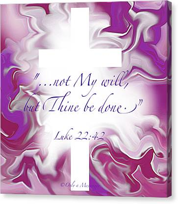 Thy Will Be Done Canvas Print