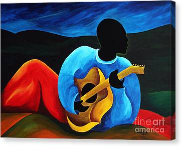 Ti Jean Le Guitariste Canvas Print by Patricia Brintle