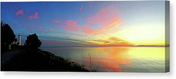 Sunset At Tibbetts Point Light, 2015 Canvas Print