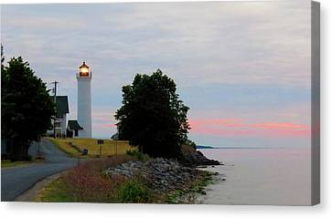 Tibbetts Point Light Sunset Canvas Print