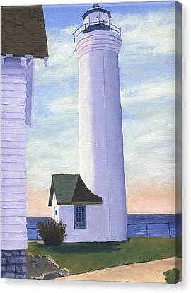 Canvas Print featuring the painting Tibbett's Point by Lynne Reichhart