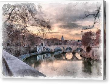 Tiber - Aquarelle Canvas Print