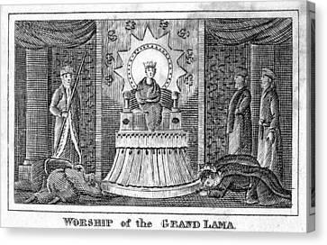 Tibet: Grand Lama, 1832 Canvas Print by Granger