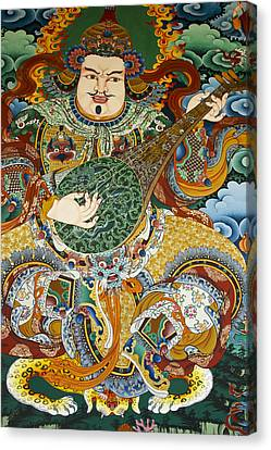 Tibetan Buddhism Canvas Print - Tibetan Buddhist Mural by Michele Burgess