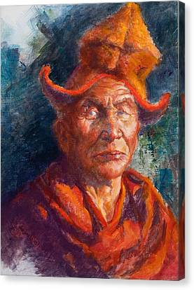 Tibetan Monk Canvas Print by Ellen Dreibelbis