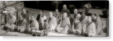 Canvas Print featuring the photograph Tibetan Monks by Kate Purdy