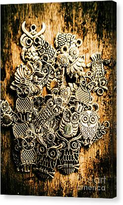 Tibetan Owl Charms Canvas Print