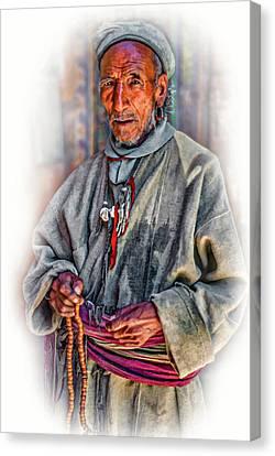 Tibetan Canvas Print - Tibetan Refugee - Vignette by Steve Harrington