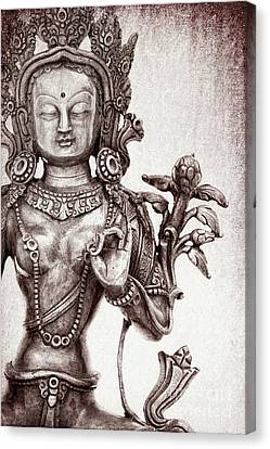 Tibetan Tara Canvas Print by Tim Gainey