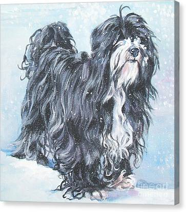 Tibetan Terrier Canvas Print by Lee Ann Shepard