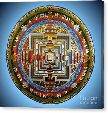Tibetan Canvas Print - Tibetian Mandala  by Birgit Moldenhauer