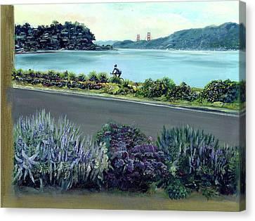 Tiburon Bike Path Canvas Print by Graciela Placak