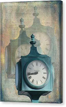 Tick Tock Version Two Canvas Print by Rosalie Scanlon