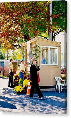 Saugerties Canvas Print - Ticket Booths by Lanjee Chee