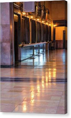 Ticket Counter, Union Station Canvas Print by Terry Davis