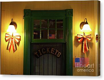 Ticket Office At Brunswick Station Maryland Canvas Print