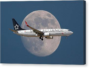 Passenger Plane Canvas Print - Ticket To The Moon by Nichola Denny