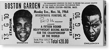 American Basketball Player Canvas Print - Ticket To World Championship Boxing by Everett
