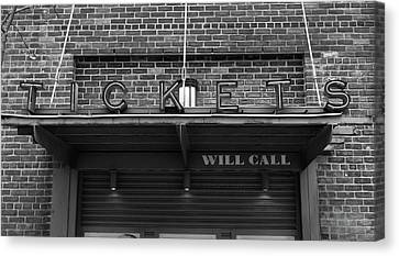 Ticket Will Call Window At Fenway Park Canvas Print by Bill Dussault