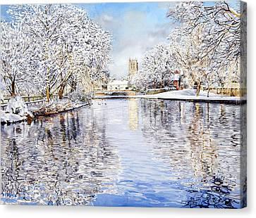 Tickhill Duck Pond Canvas Print by Matthew Phinn