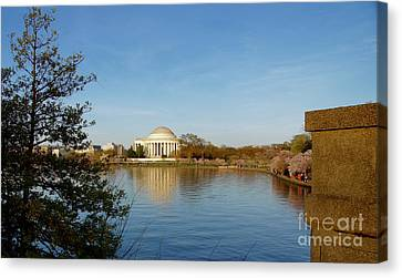 Tidal Basin And Jefferson Memorial Canvas Print by Megan Cohen
