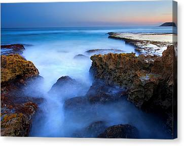 Tidal Bowl Boil Canvas Print by Mike  Dawson